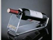 Acrylic transparent single slant table top bottle display holder/stand